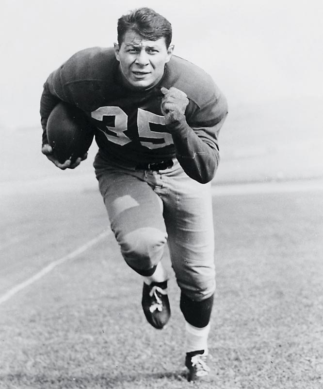 Hoosier fans once voted Pihos the greatest IU football player ever. As versatile as they come, Pihos was the only college player to ever be named an All-America on both offense and defense. He led IU in receiving in 1942-43, rushing in 1946 and scoring in 1945-46 and went on to become a member of both the College and Pro Football Hall of Fames.