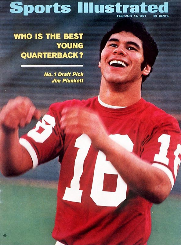 Despite undergoing thyroid surgery as a freshman, Jim Plunkett became Stanford's first Heisman trophy winner in 1970. He finished his senior season with 18 passing touchdowns and 3 rushing, along with a conference-record 2,715 passing yards. To finish his college career, he led  the Cardinal to their first Rose Bowl victory since 1941 and became the first pick in the NFL draft. He went on to have a 15-year NFL career.
