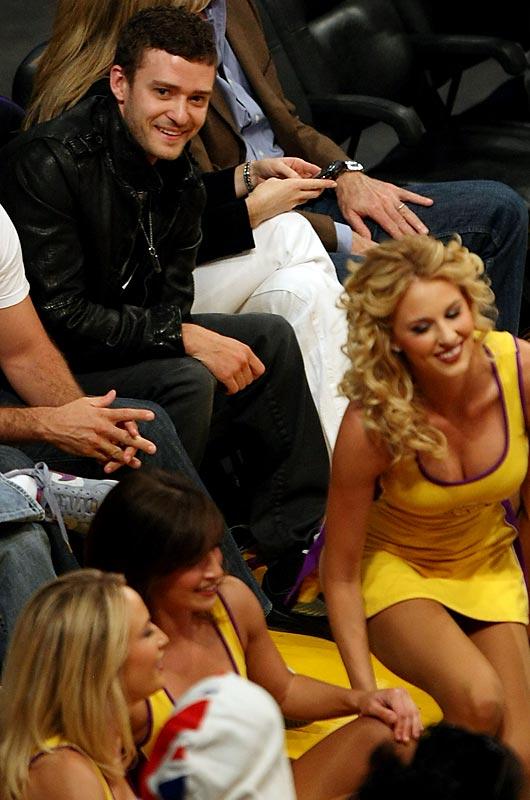 Justin Timberlake enjoyed a prime seat at Thursday's NBA Finals game.