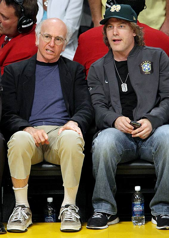 Larry David also had a great seat, but some sock issues.