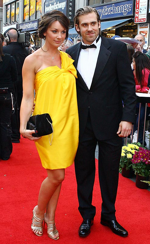 Henrik Zetterberg of the Detroit Red Wings and girlfriend Emma Andersson posed for pictures at the 2008 NHL Awards at the Elgin Theatre in Toronto on Thursday.