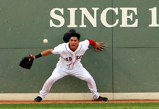 You'd think Jacoby Ellsbury wouldn't be afraid of a little old baseball.