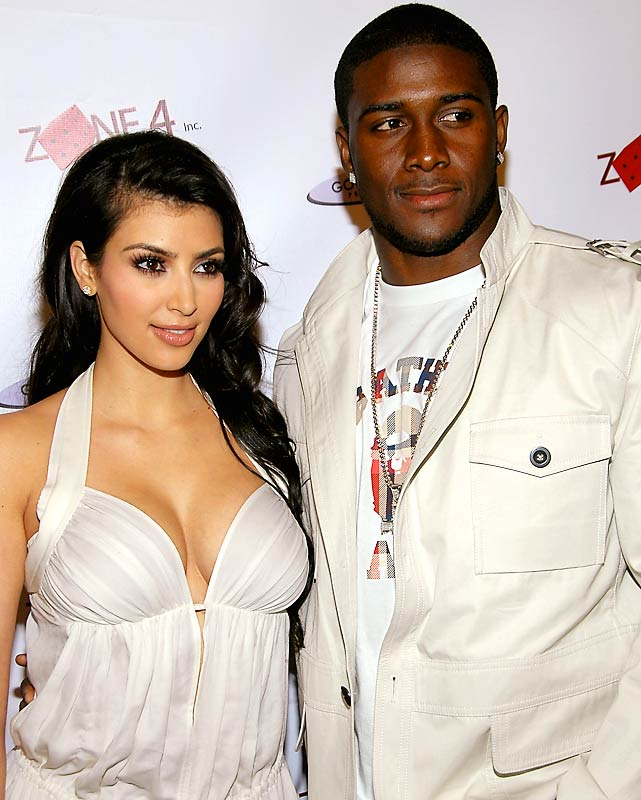 Kim Kardashian and Reggie Bush attended a pre-BET Awards party in Los Angeles on Monday.