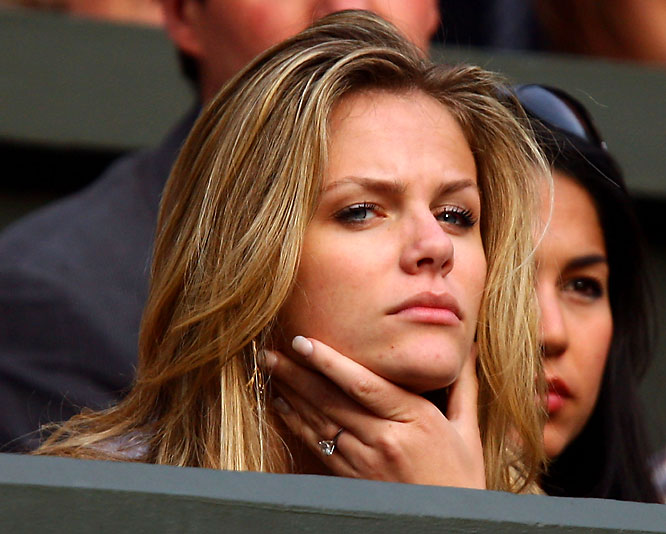 SI Swimsuit model Brooklyn Decker has the look you'd expect to see on her face as fiance Andy Roddick lost in his second-round Wimbledon match on Thursday.