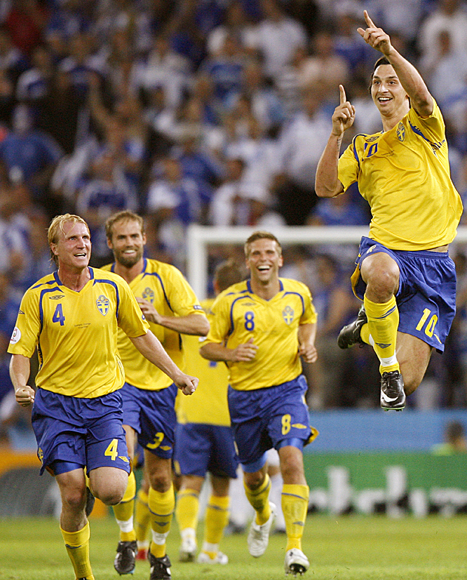 Ibrahimovic has struggled in the Sweden shirt over the past few years, entering Euro 2008 without an international goal since October '05. But the gifted Inter Milan striker ended the drought with a brilliant long-range strike in the 67th minute to break a deadlock against defending champion Greece.