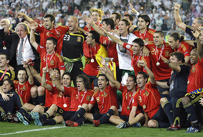 Spain, which last won a major championship in 1964 when it hosted the European Championship, went undefeated in its run to the 2008 title.