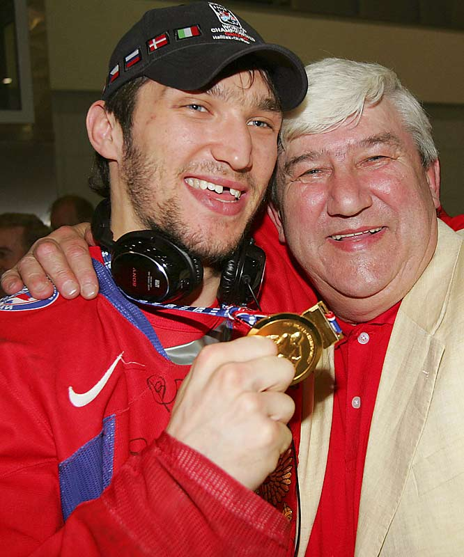 While Alexander Ovechkin is a star in the NHL and on the Russian National hockey team, his father, Mikhail, was a professional soccer player.