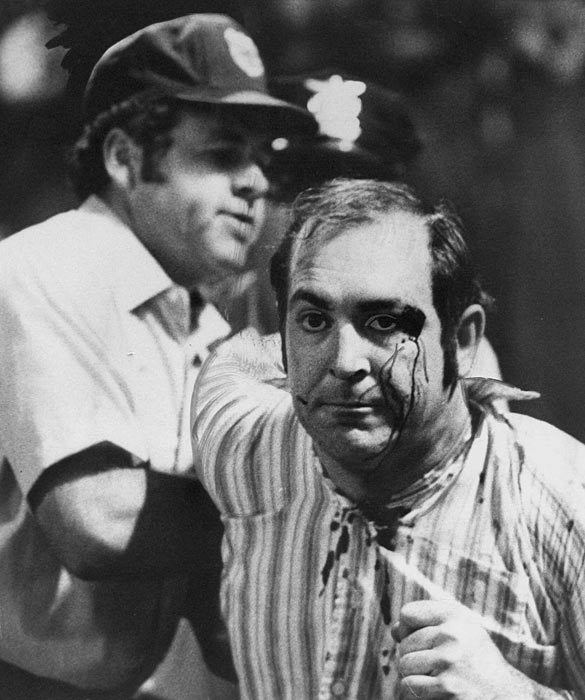On 10-cent beer night at Cleveland Stadium, unruly fans cause the home team Indians to forfeit the 5-5 game to the Rangers in the bottom of the ninth. The 25,134 fans in attendance chugged down an estimated 60,000 cups of beer.