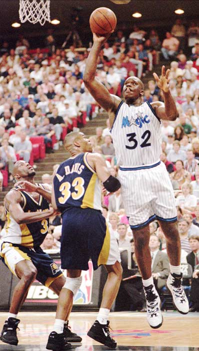 The Orlando Magic advance to the NBA Finals with a 105-81 win over visiting Indiana in Game 7 of the Eastern Conference Finals. Shaquille O'Neal scores a game-high 25 points to lead the Magic.