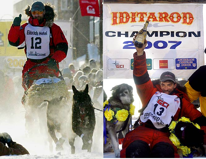 Alaska's 1,000-mile Yukon Quest and 1,150-mile Iditarod are only a little more than a month apart, so winning them back-to-back is more than demanding. It had never been done until last year, when Lance Mackey did it.  Winning them back-to-back two years in a row? Mackey this year -- on feet frostbitten by the Quest's 40-below temperatures, yet. Matching his feat is going to take some doing.