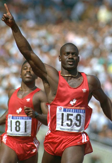 Olympic gold medal winner Ben Johnson admits to using steroids.