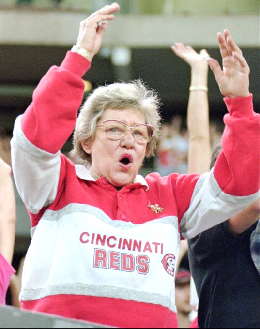 Due to questionable comments about Hitler, Reds owner Marge Schott is forced to relinquish her role as managing general partner for two years.