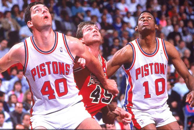 Behind Isiah Thomas, Bill Laimbeer and Dennis Rodman, the Detroit Pistons sweep the Los Angeles Lakers to capture their first NBA championship.