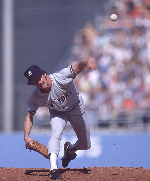 Yankee southpaw Ron Guidry strikes out 15 Angels in six innings and finishes with 18 Ks for the game,  establishing a new American League mark for left-handers.