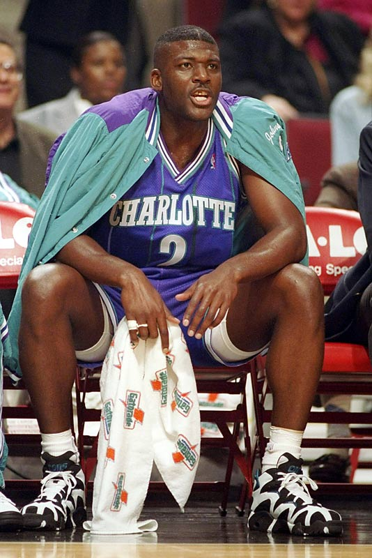 The Charlotte Hornets select Larry Johnson with the No. 1 draft pick, followed by Kenny Anderson (New Jersey), Billy Owens (Sacramento) and Dikembe Mutombo (Denver).