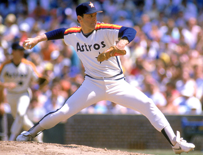Astros ace Nolan Ryan passes Early Wynn to become the all-time walks leader after giving up his 1,777th base on balls.