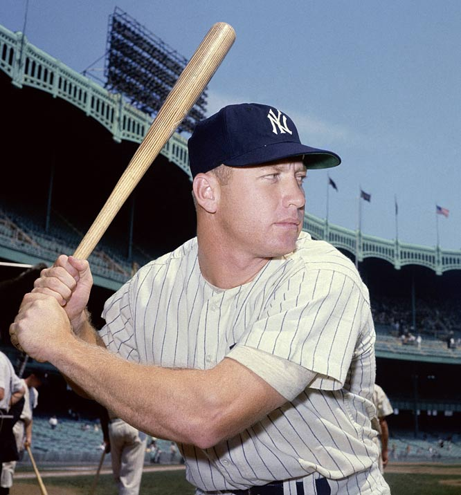 Yankees center fielder Mickey Mantle hits his 550th homer off Chicago's Billy Pierce