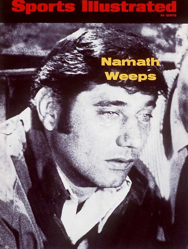 Joe Namath resigns from NFL after Pete Rozelle, football commissioner, said he must sell his stake in a bar