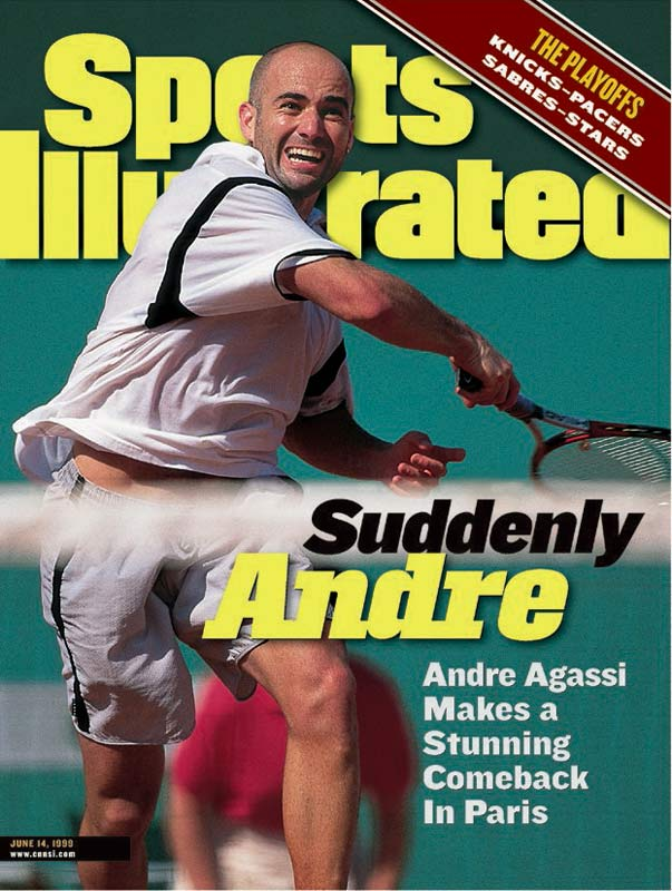 Agassi became just the fifth player in tennis history to win all four Grand Slam events when he came from two sets down to win his first major title in four years. He would go on to win the U.S. Open later that year.
