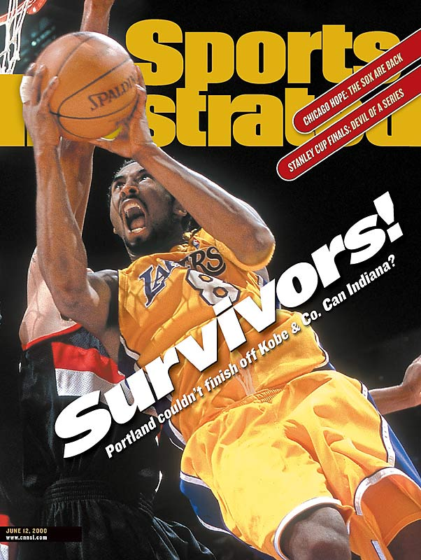 """On the verge of blowing a 3-1 series lead, the Lakers erased a 15-point fourth-quarter deficit and went on to topple Portland 89-84, winning their first NBA crown under Phil Jackson. The Blazers missed 13 consecutive shots during the Lakers' surge, which was keyed by Brian Shaw's two three-pointers. """"We realize we sort of made cowards of ourselves in the fourth quarter,"""" Portland's Scottie Pippen said after the game."""