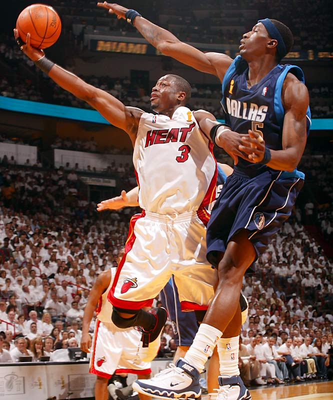 The Heat were down 2-0 in the series and stuck in a 89-76 hole midway through the fourth quarter of Game 3. But Dwyane Wade scored 12 of his 42 points during a game-ending 22-7 run that sparked Miami to a 98-96 victory, the first of its four consecutive wins. The Heat became just the third team to win the championship after losing the first two games of the finals.