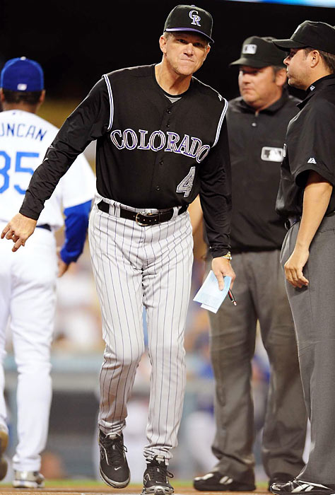 In late May 2009, the Rockies were 18-28 when they dismissed manager Clint Hurdle and replaced him with former Dodgers and Pirates skipper Jim Tracy. Colorado eventually bottomed out at 20-32 -- a .385 winning percentage -- but then tore off 72 wins in their next 110 games -- a .655 winning percentage -- and captured the NL Wild Card.