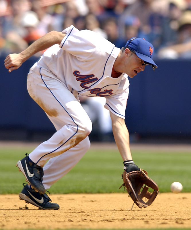 ''Super Joe'' was a fan favorite who played every position except pitcher during his career. He played seven positions each season while with the Mets from 2000 to '04.