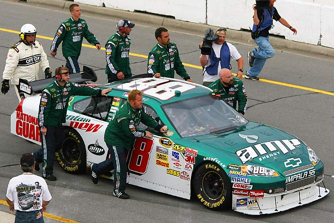 Earnhardt Jr. ran out of gas immediately following the race's completion, and his crew had to push the car to victory lane.