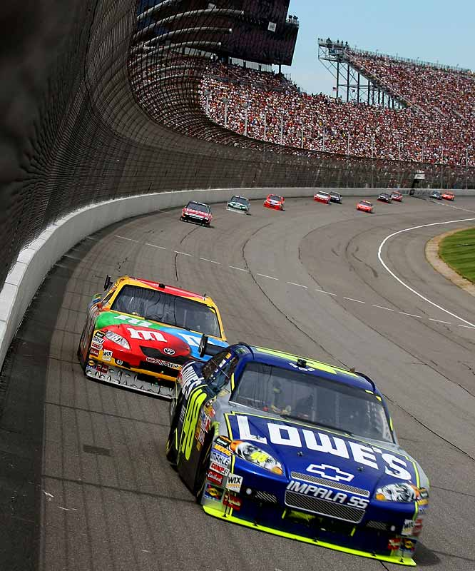 Two-time defending Cup champion Jimmie Johnson finished in sixth place.