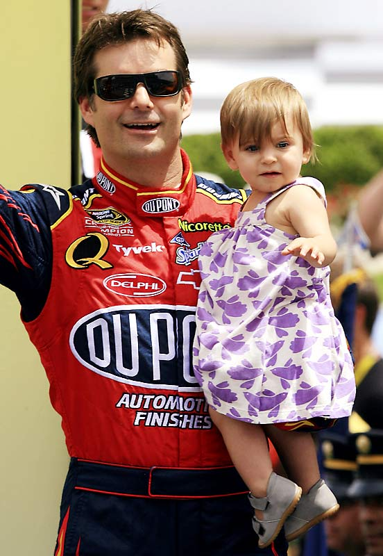 Jeff Gordon spent some time on Father's Day with his daughter, Ella Sofia.