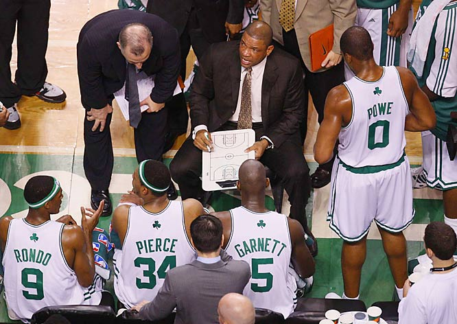 Coaching in his first NBA Finals, Doc Rivers has guided the Celtics to a 2-0 series lead.