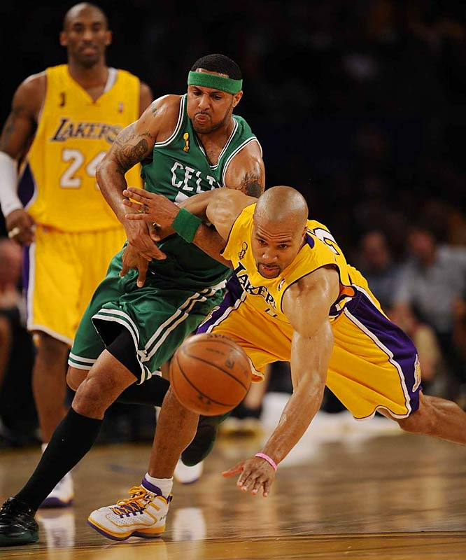 The Lakers trailed by two after three quarters, but they outscored the Celtics 27-19 in the final period.