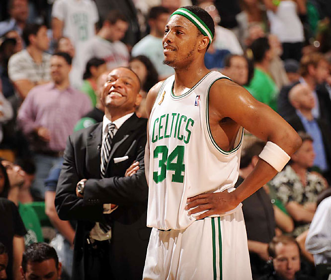 Celtics coach Doc Rivers and captain Paul Pierce hadn't won a playoff series in three previous years together before getting past Atlanta, Cleveland, Detroit and the Lakers this season.