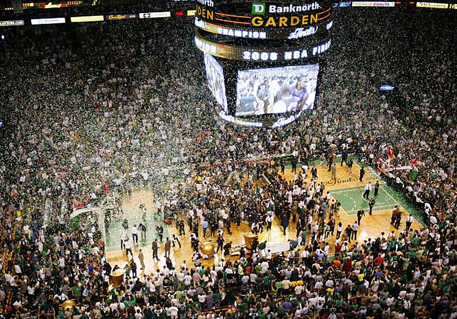 With a 131-92 rout of the Lakers in Game 6, the Celtics and their fans celebrated the franchise's first championship in 22 years.