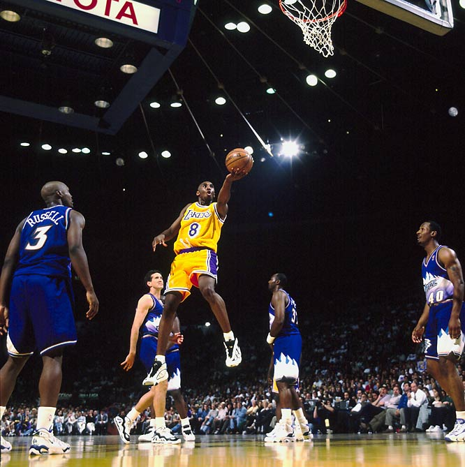 Though only a rookie, and an 18-year-old one at that, Bryant tried to take matters into his own hands in a series-ending playoff loss to the Utah Jazz in 1997. The results were disastrous. With Shaq having fouled out midway through the fourth quarter, Bryant fired up four air balls on long jumpers -- one at the end of regulation and three more in overtime. The Jazz won 98-93 in that Game 5 to advance to the Western Conference finals.