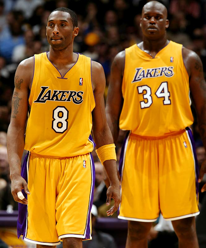 "Kobe and Shaq spent many of their eight years together at odds over everything from locker room leadership to team commitment to shots. Shaq claimed Bryant ""needs advice on how to play team ball,"" and Kobe asserted Shaq shouldn't come into training camp ''fat and out of shape when your team is relying on your leadership on and off the court."" Phil Jackson later wrote of the relationship,  ""At times, the pettiness between the two of them can be unbelievably juvenile.''"