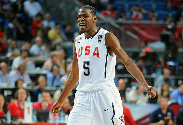 With six players 22 years or younger, Team USA was considered too young and too inexperienced to capture gold at the 2010 FIBA World Championship in Turkey. But boy, did they prove people wrong. The Americans, led by Oklahoma City Thunder star Kevin Durant, dominated the international competition, going 9-0 during the tournament and capturing the U.S.'s first world championship gold medal since 1994.