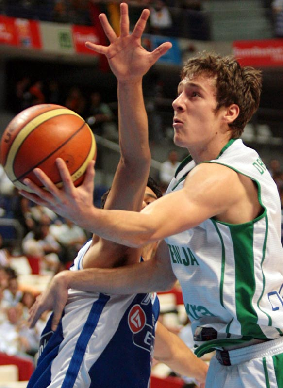 A 6-4 lefty, the 22-year-old point guard played well at the European championships last summer for Slovenia. Dragic is a better penetrator and finisher inside than he is a perimeter shooter. He's viewed as a second-round pick.