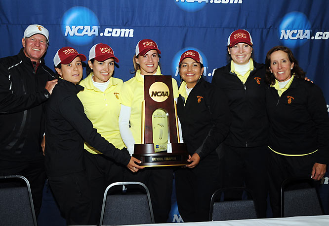 USC won its second NCAA title after finishing with its lowest ever championship total at 16-over 1168, beating out cross-town rival UCLA (1174) and three-time defending national champion Duke (1180). Belen Mozo was USC's high finisher, in fourth at 2-over 290.