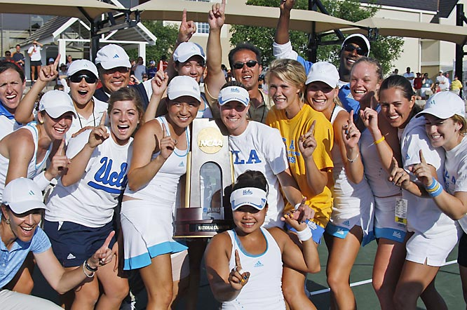 Senior Riza Zalameda rallied from a set down to defeat Cal's Susie Babos 3-6, 6-3, 6-2 to clinch the first-ever NCAA Championship for the UCLA women's tennis team. The Bruins had a 4-0 victory over the No. 8 Golden Bears in the final.