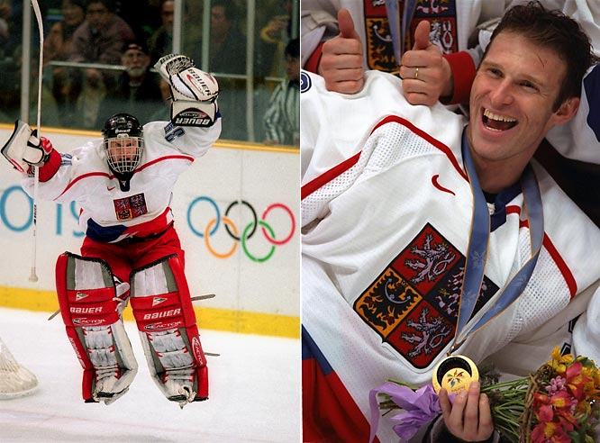 "The finest season of Hasek's career included blanking Russia 1-0 for the gold medal at the Winter Olympics in Nagano, Japan. He returned home to Czechoslovakia a national hero. ""Hasek is God"" signs were seen at various celebrations."