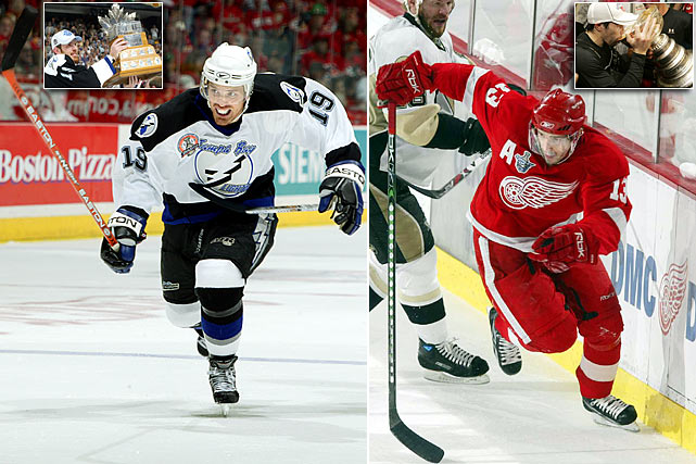 The Lightning took center Vincent Lecavalier first overall and found another piece of their 2004 Stanley Cup championship team in Brad Richards at No. 64. He'd later win the Conn Smythe Trophy for them. (Another key member of that team, winger Martin St. Louis, was an undrafted free agent.) The Red Wings, meanwhile, scored with Pavel Datsuyk out of Yektarinburg, Russia, at 171. He's since been in the conversation regarding the NHL best all-around players, winning four Lady Byng (gentlemanly play) and three Selke (top two-way forward) trophies while earning six successive Selke nominations (2008-2013) as a key member of two Cup teams. Other notables from '98: Two-time Cup-winning defenseman Rob Scuderi (Penguins, 5th Rd. at No. 134) and RW Chris Neil (Senators, 6th Rd. at No. 161).