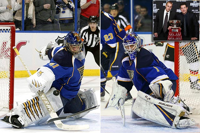 The Blues' 2011-12 Jennings Trophy-winning netminders were taken at 271 and 291 respectively: Elliott was the next-to-last-player chosen in 2003. Halak later shot to stardom with Montreal during the 2010 playoffs, and his status as the undisputed No. 1 in St. Louis was challenged during the 2011-12 season by a strong showing from Elliott, who had played three nondescript seasons in Ottawa and Colorado.