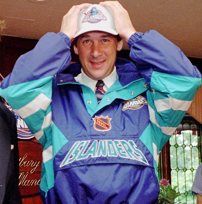 In 1995, Milbury was named general manager of the New York Islanders, a once-proud franchise that had fallen on hard times, lousy ownership and ugly uniforms that reminded people of a certain leading brand of frozen seafood.