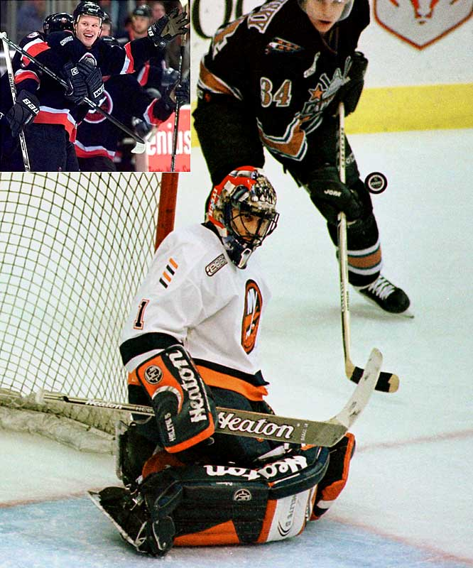 "Milbury gave himself the nickname ""Mad Mike"" after dealing franchise goaltender Roberto Luongo and Olli Jokinen (inset) to Florida for Mark Parrish and Oleg Kvasha on Draft Day 2000. Mad Mike would then draft goaltender Rick DiPietro first overall."