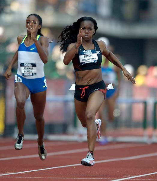 Tiffany Ross-Williams is headed to Beijing after she won the 400 meter hurdles in 54.03 seconds.