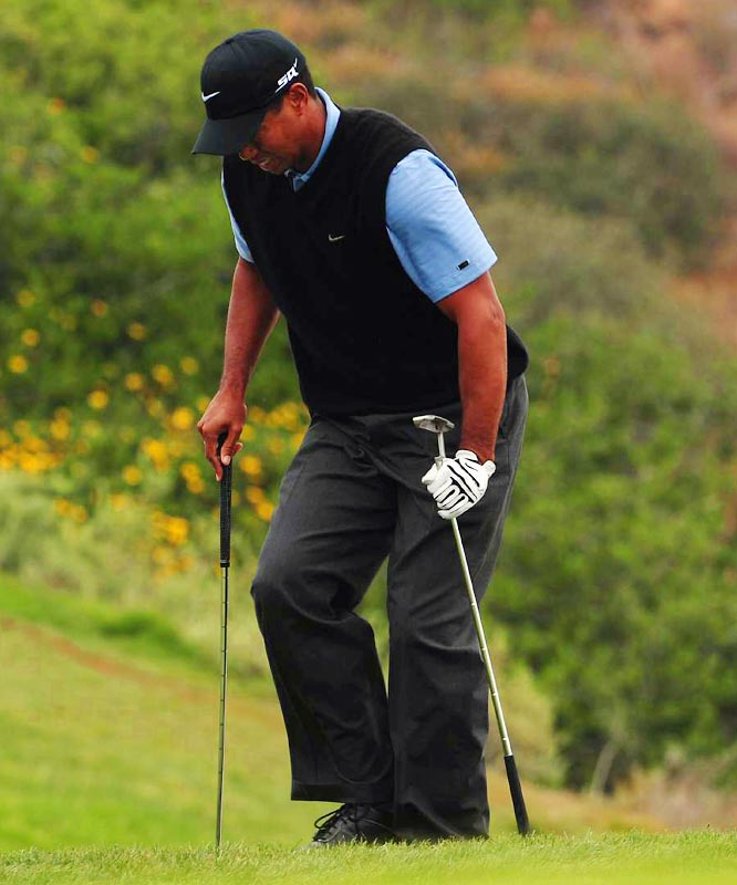 Playing for the first time since arthroscopic knee surgery two months prior, Tiger Woods battled for 91 holes, often times in pain, to win what he ranks as the best of his 14 major championships. Two days later he announced that he would undergo reconstructive knee surgery and miss the rest of the season.