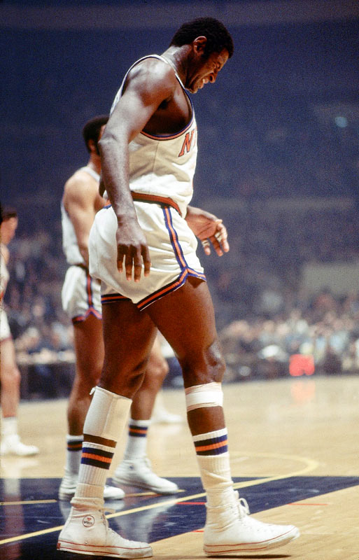 No one knew if Willis Reed would play in Game 7 after suffering a severe torn muscle in his thigh. But Reed was in the starting lineup and scored the first four points -- his only in the game -- and played a crucial 27 minutes of defense on Wilt Chamberlain to help lift the Knicks to their first title.