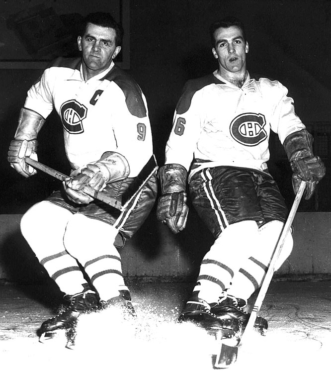 "Maurice, nicknamed ""Rocket"" for his blazing speed on the ice, helped the Canadiens to eight Stanley Cups and became the first player in NHL history to score 500 goals in a career. Henri, nicknamed ""Pocket Rocket"" for his diminutive 5-foot-7 frame, played 20 seasons in Montreal and joined his older brother in the Hall of Fame with his 1979 induction."