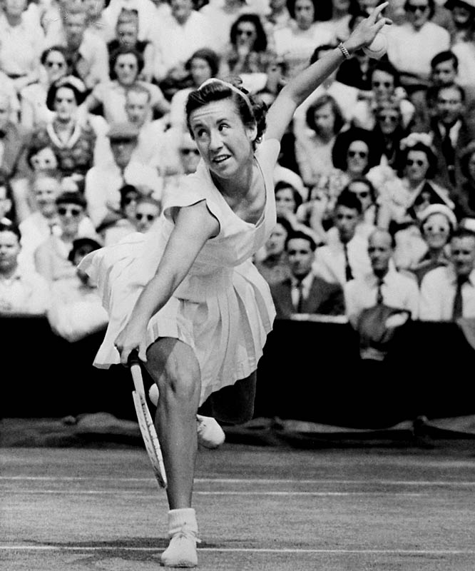 Connolly became the first woman to win the sport's four major tournaments with her victory in the final of the 1953 U.S. Championships, beating Hart to the distinction by one year.